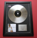 ALEXANDRA BURKE - Overcome CD / LP PLATINUM PRESENTATION DISC